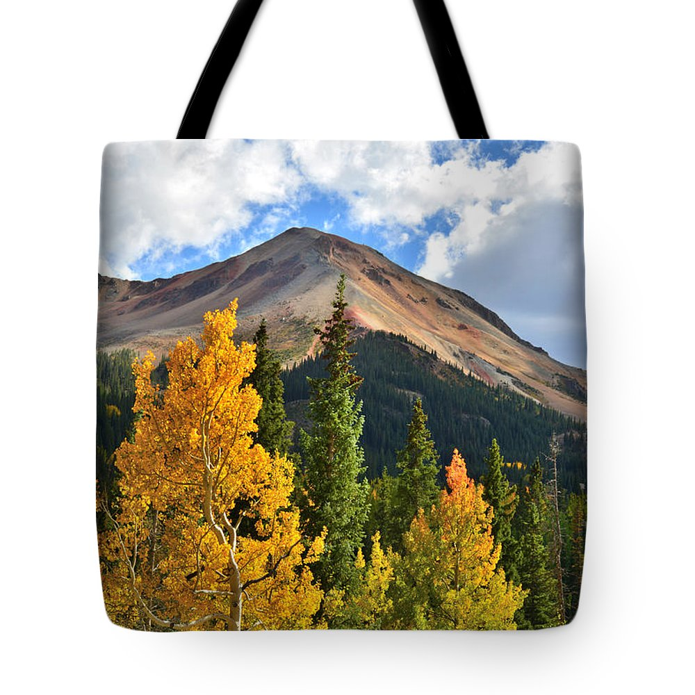 Colorado Tote Bag featuring the photograph Red Mountain Fall Colors by Ray Mathis