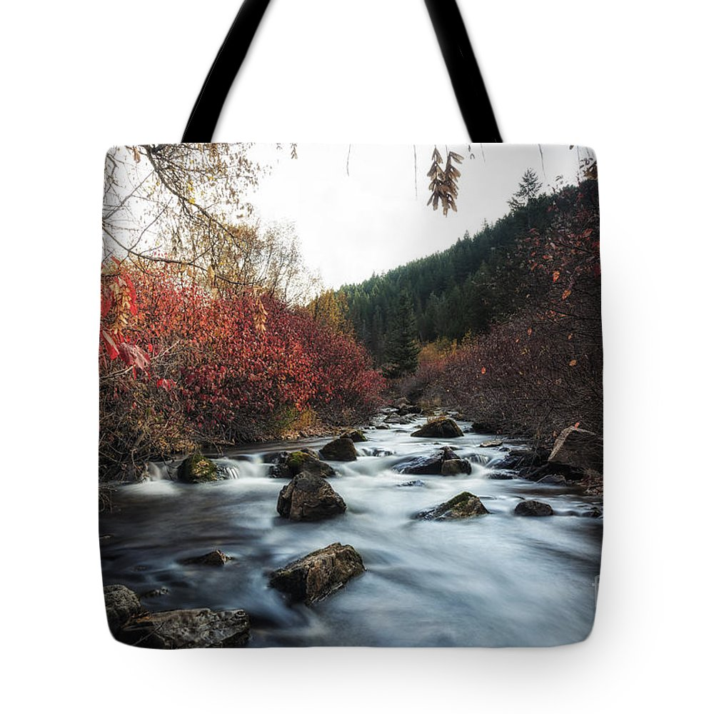 Usa Tote Bag featuring the photograph Red Oak Slow River by Mitch Johanson
