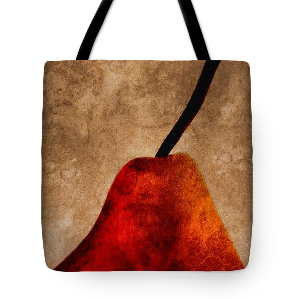 Pear Tote Bag featuring the photograph Red Pear IIi by Carol Leigh
