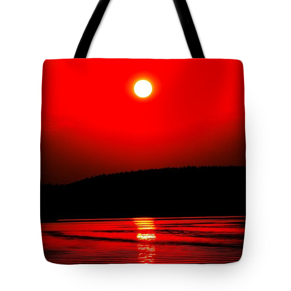 Emotion Tote Bag featuring the photograph Red Power by Max Steinwald