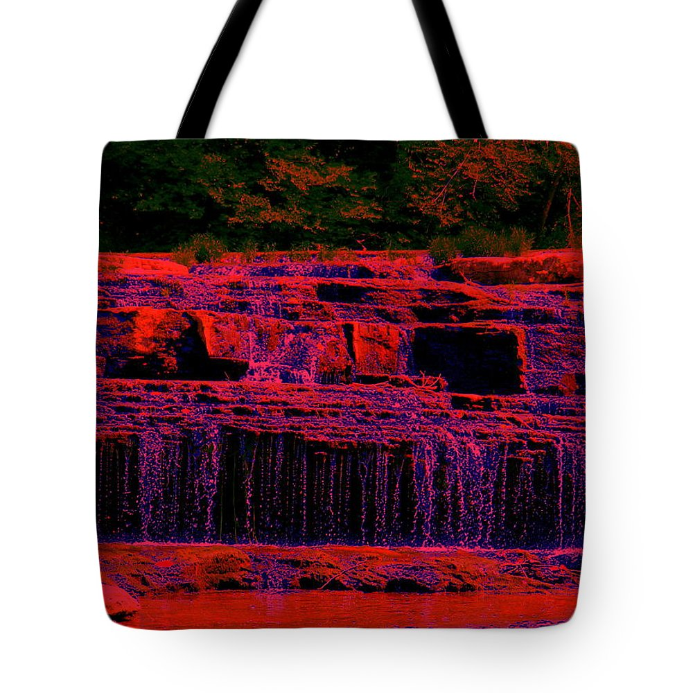 Red River Falls Tote Bag featuring the photograph Red River Falls by Ed Smith