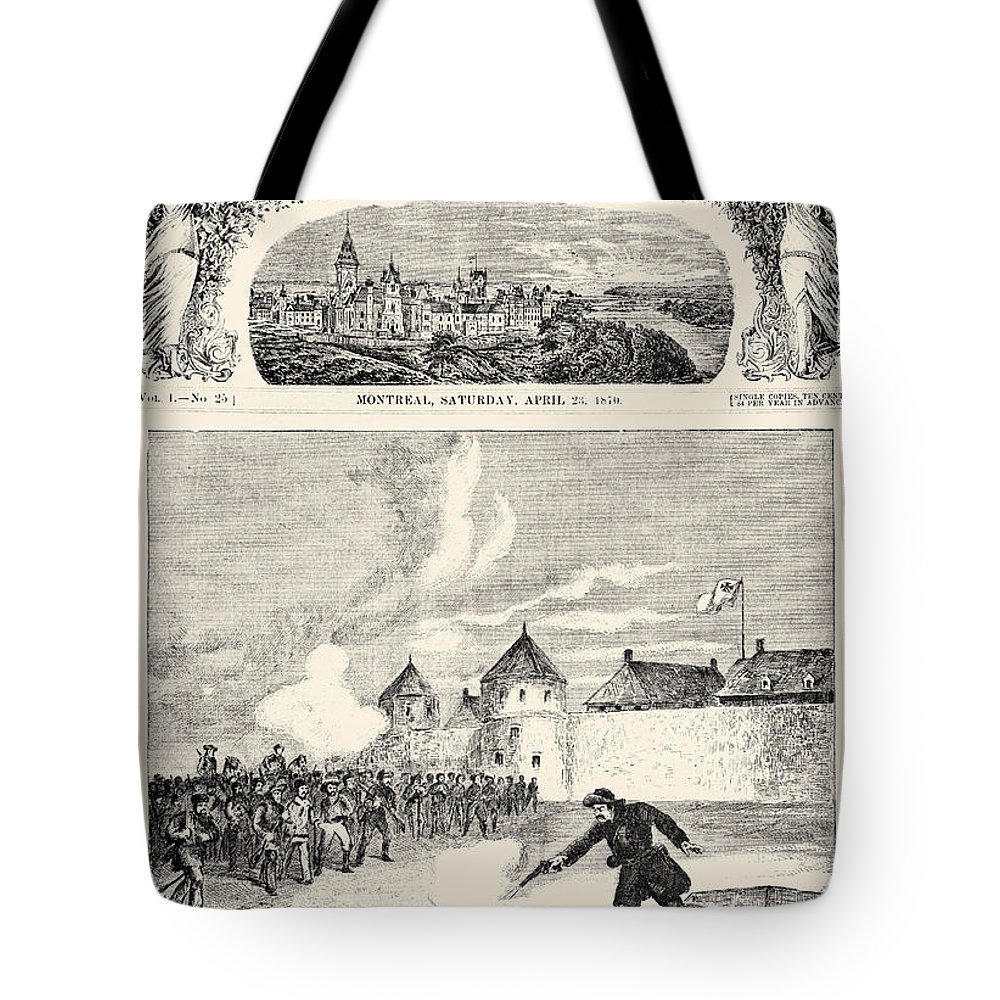 1870 Tote Bag featuring the photograph Red River Rebellion, 1870 by Granger