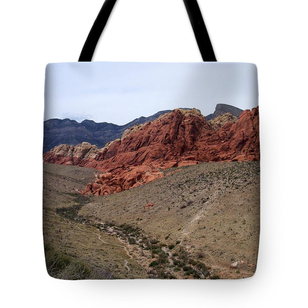 Red Rock Canyon Tote Bag featuring the photograph Red Rock Canyon 1 by Anita Burgermeister