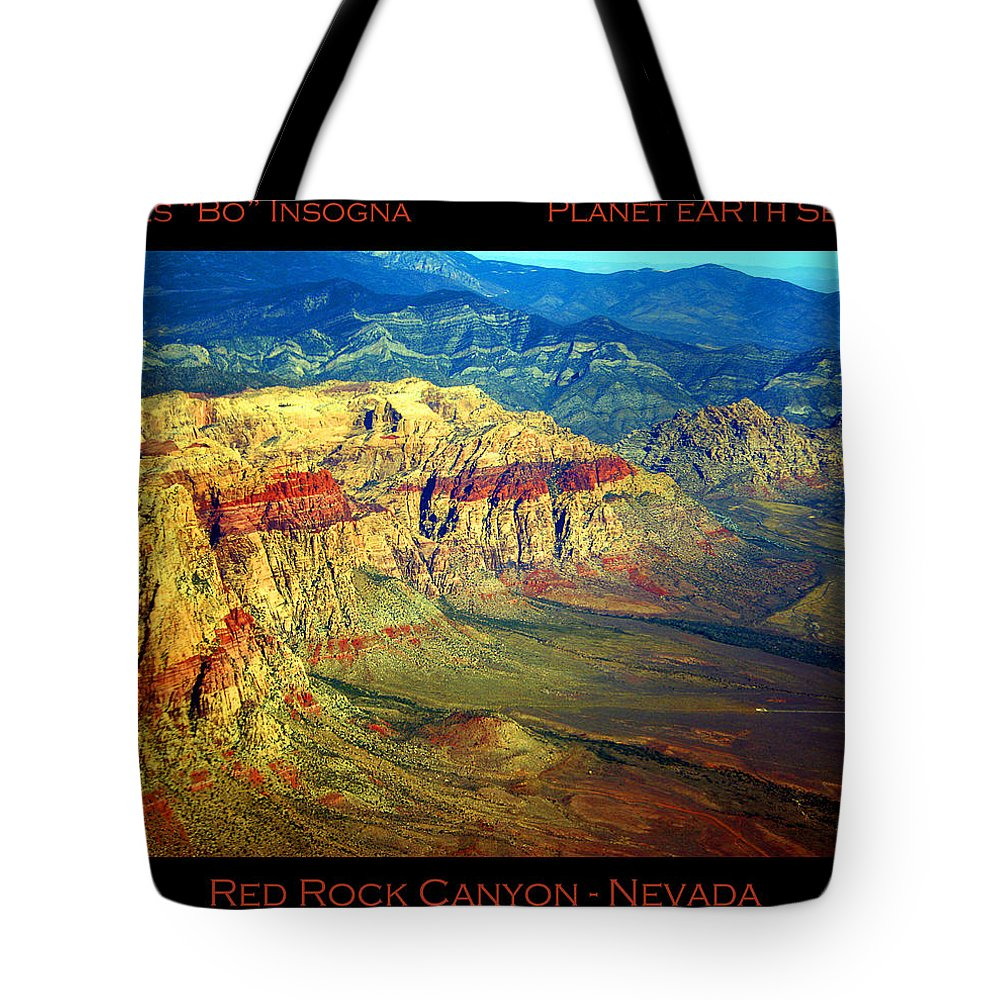 Red Rock Canyon Tote Bag featuring the photograph Red Rock Canyon Poster Print by James BO Insogna