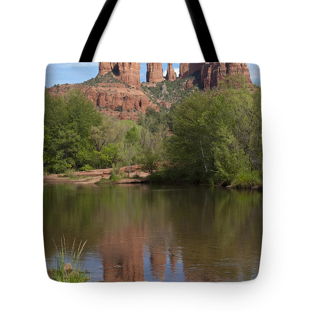 Southwest Tote Bag featuring the photograph Red Rock Crossing In Sedona by Sandra Bronstein