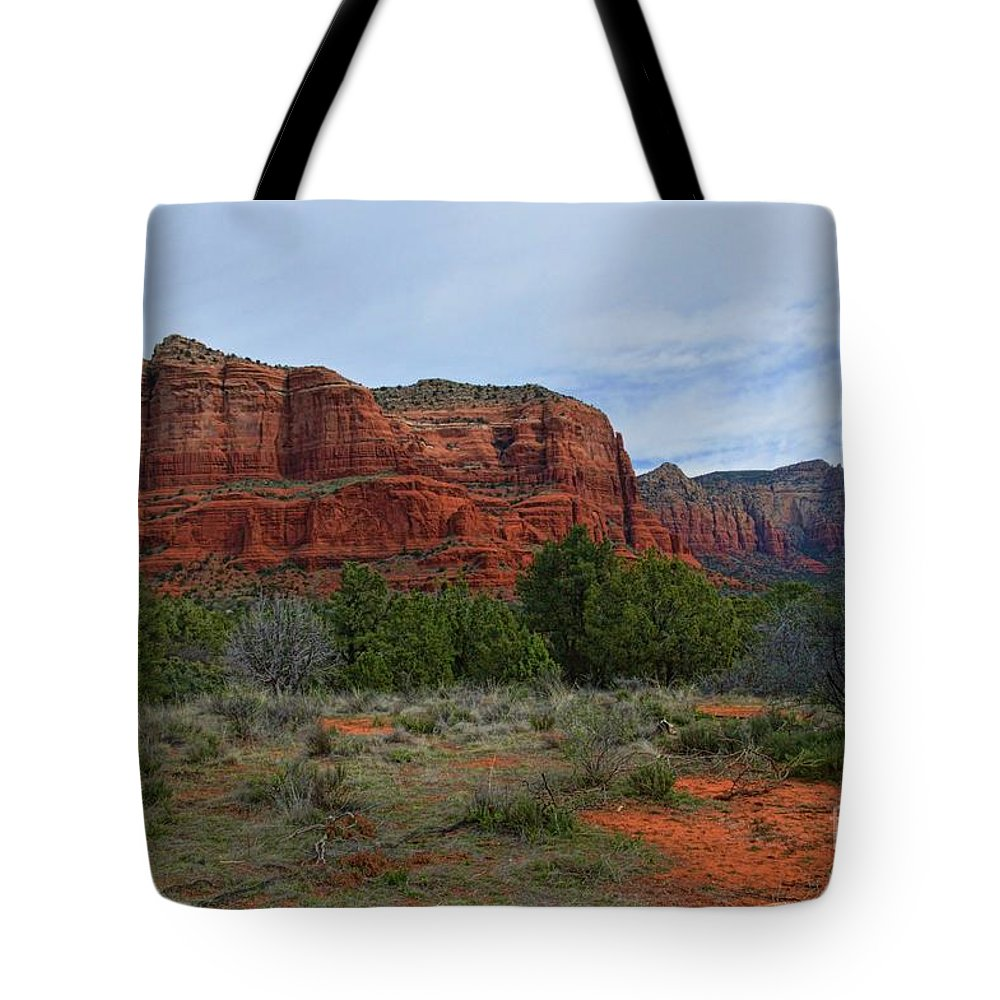 Sedona Tote Bag featuring the photograph Red Rock by Diana Mary Sharpton
