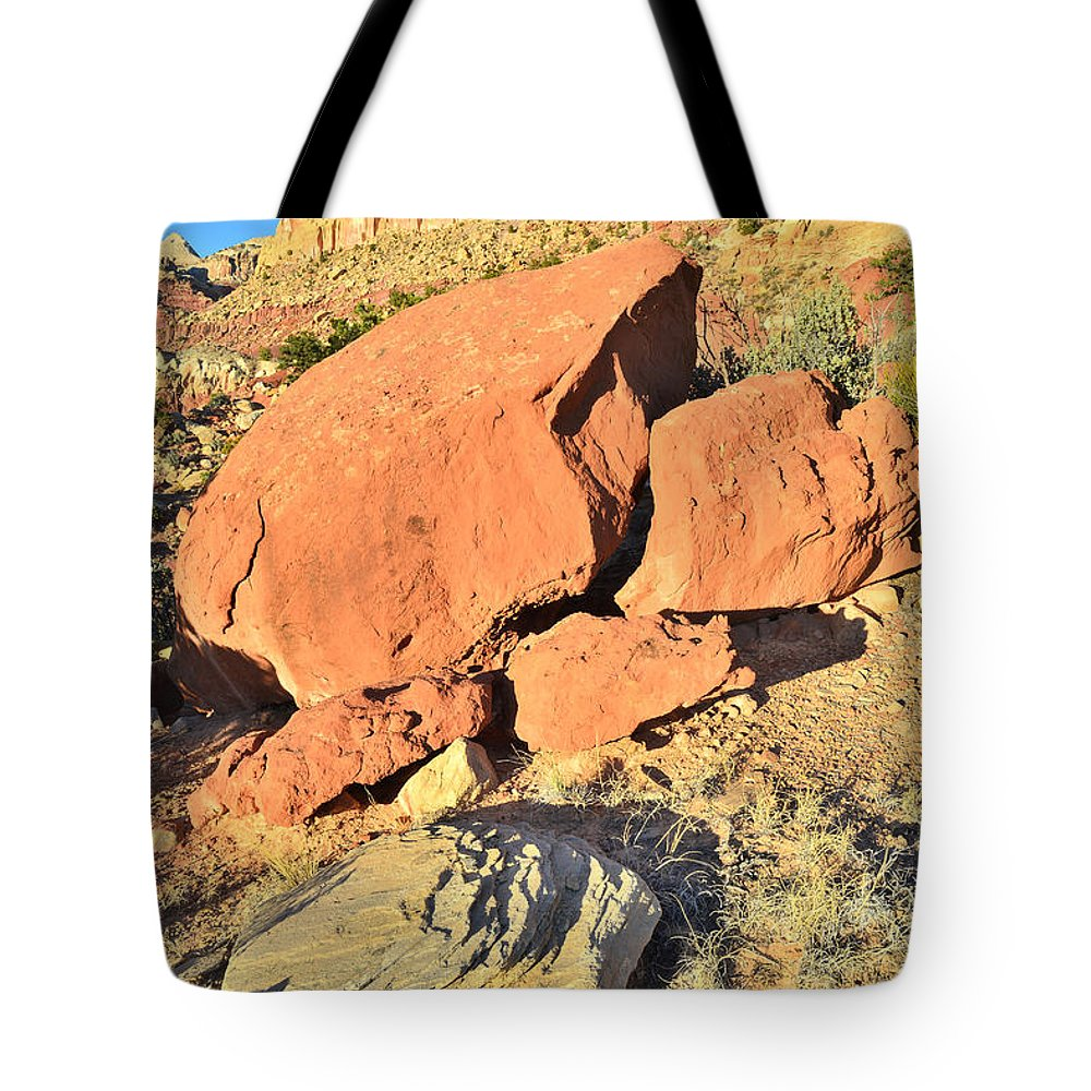 Capitol Reef National Park Tote Bag featuring the photograph Red Rock Sunset by Ray Mathis