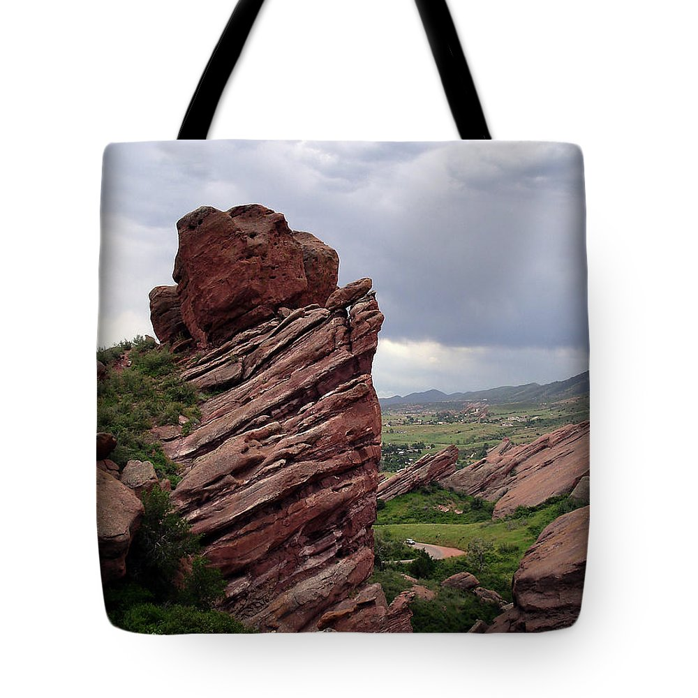 Red Rocks Tote Bag featuring the photograph Red Rocks Colorado by Merja Waters