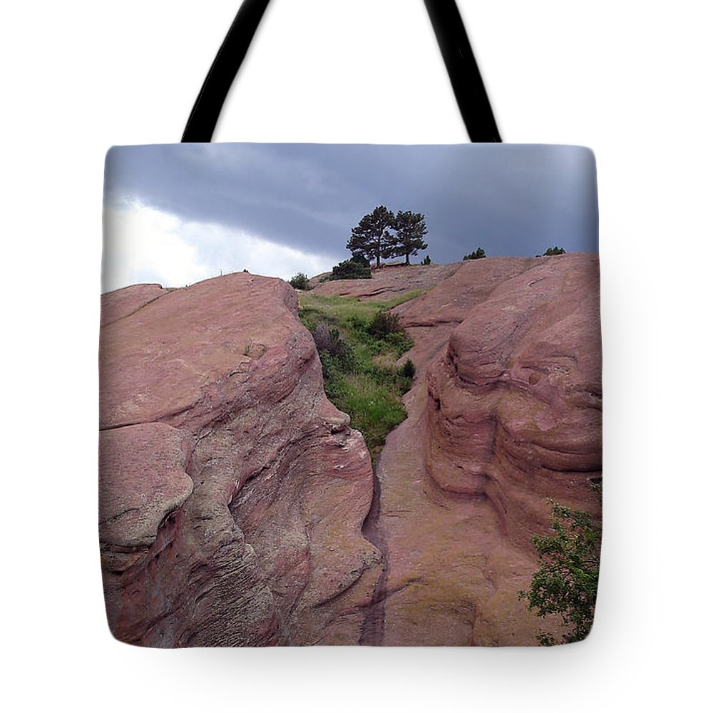 Red Rocks Tote Bag featuring the photograph Red Rocks by Merja Waters
