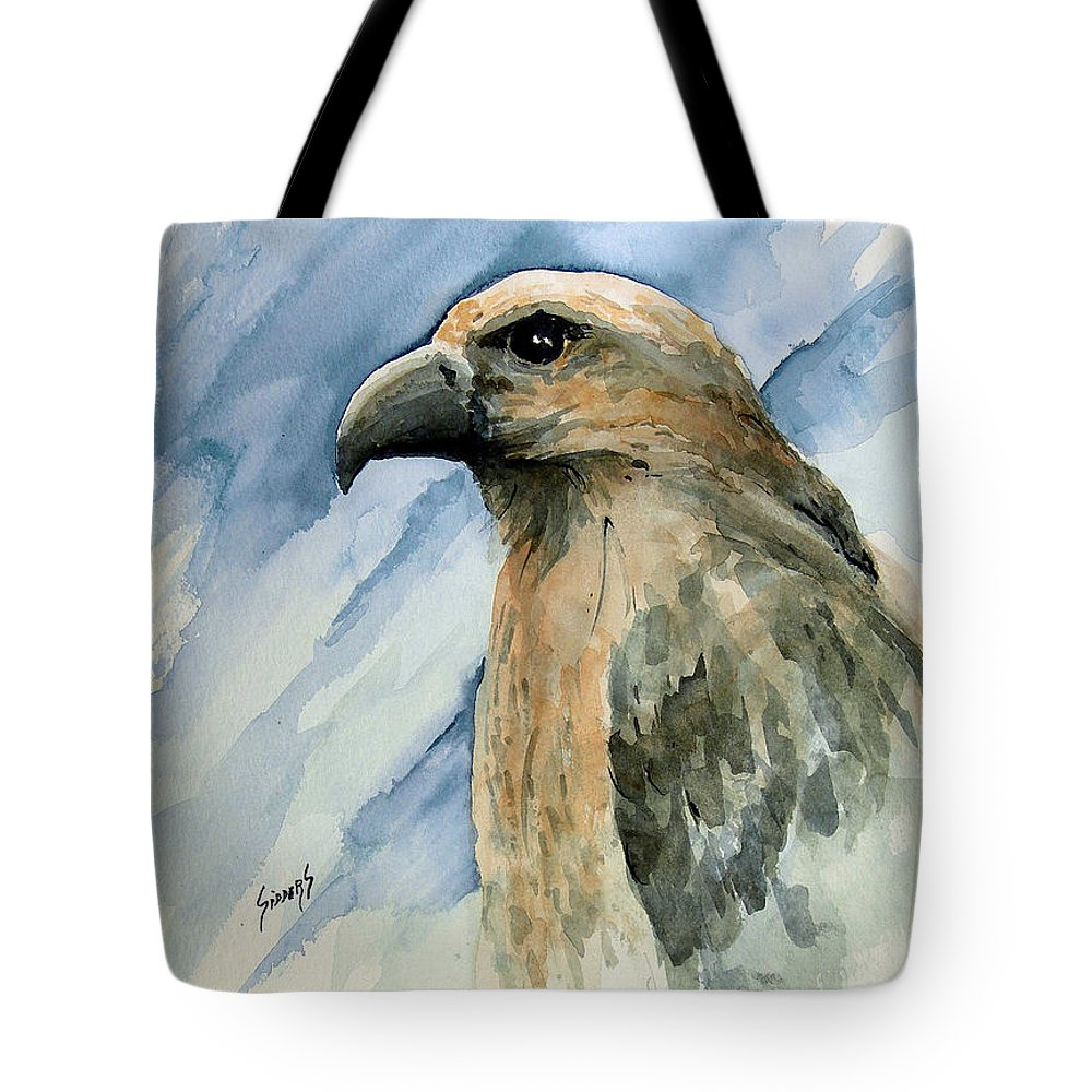 Bird Tote Bag featuring the painting Red by Sam Sidders