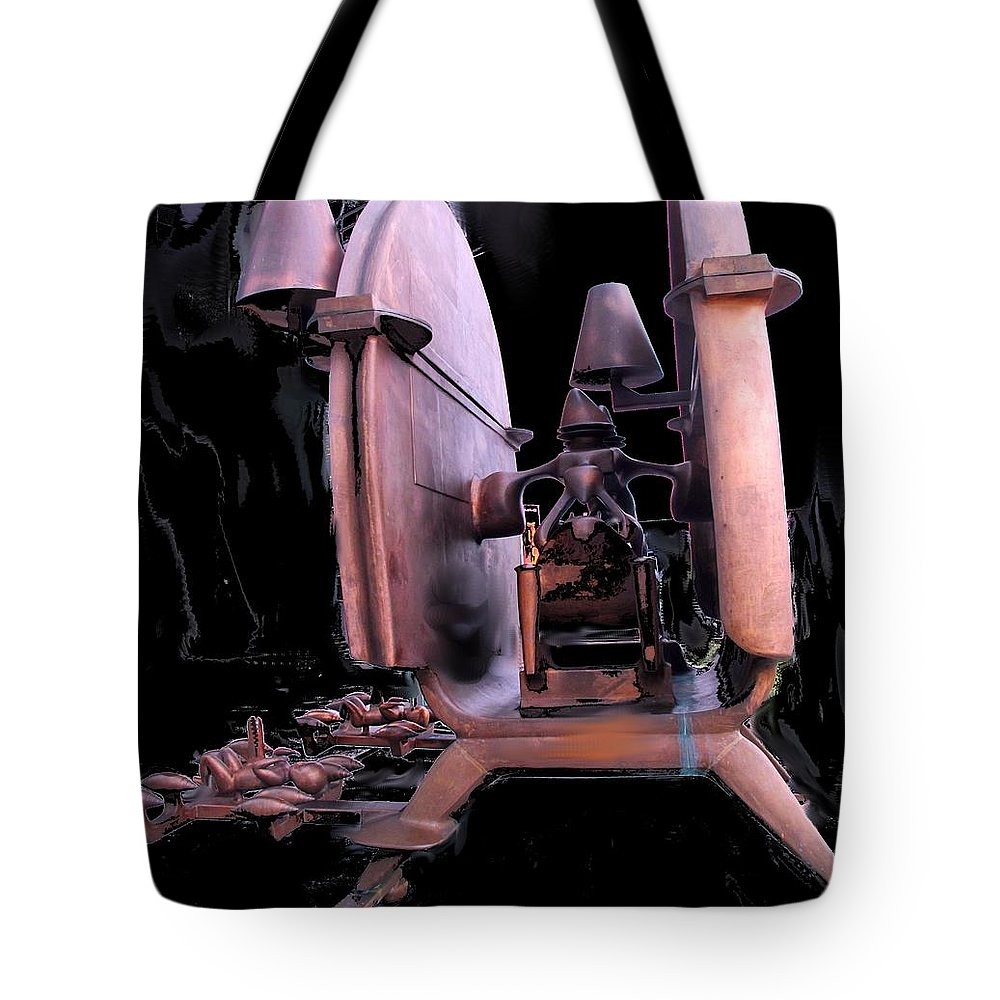 Abstract Tote Bag featuring the photograph Red Sculpture by Ian MacDonald