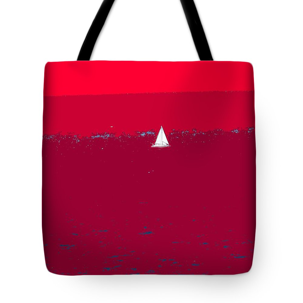 St Kitts Tote Bag featuring the photograph Red Sea by Ian MacDonald