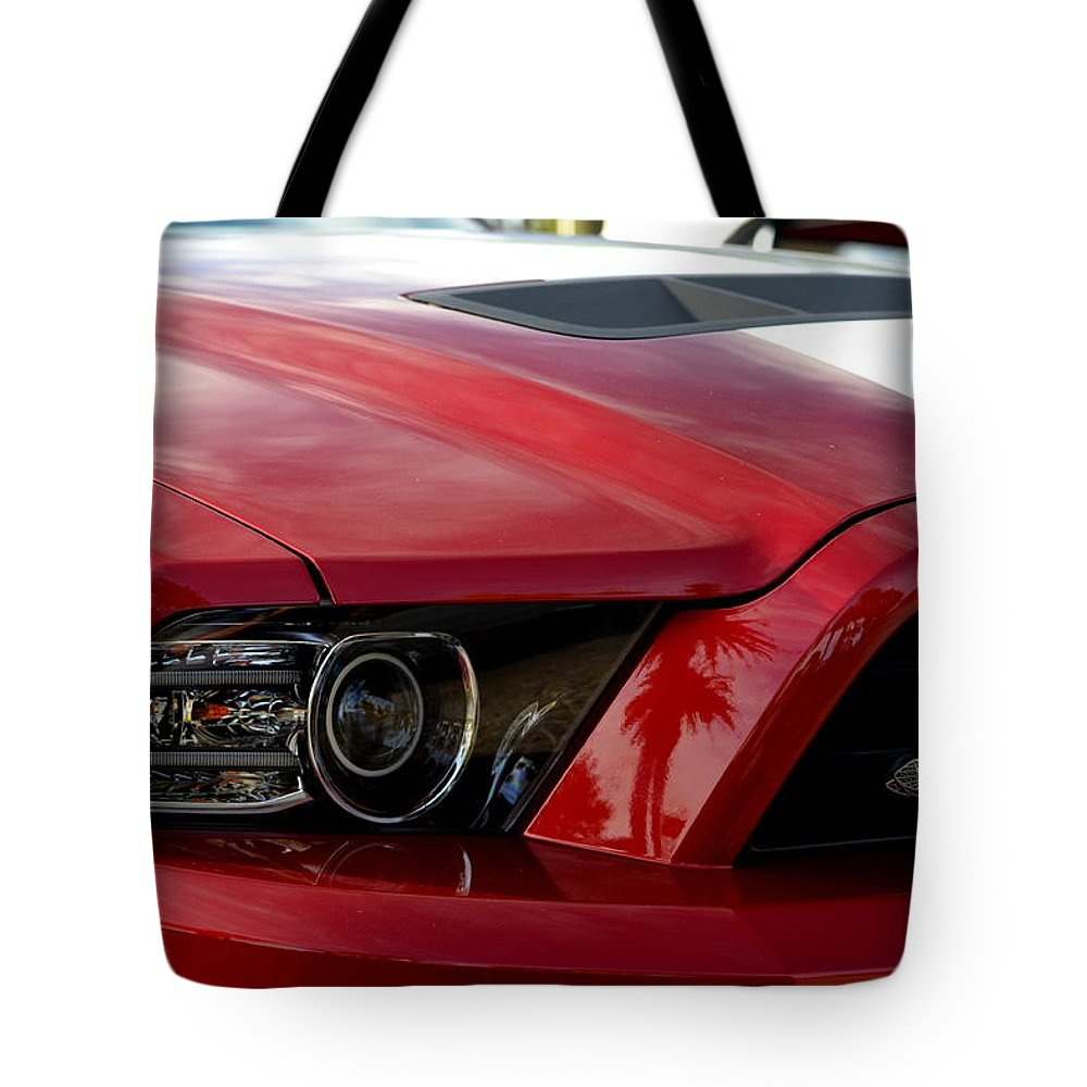 Tote Bag featuring the photograph Red Shelby by Dean Ferreira
