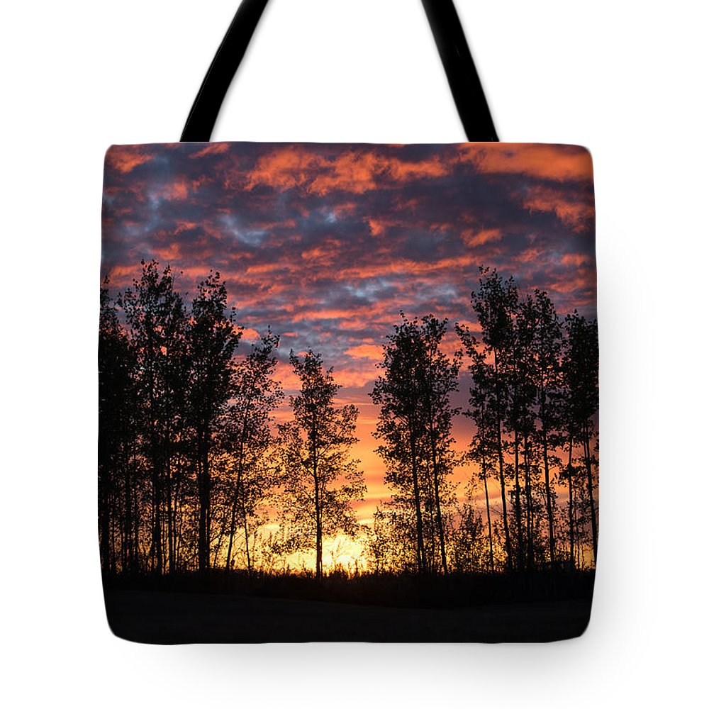 Sunset Tote Bag featuring the photograph Red Sky At Night by Cathy Mahnke