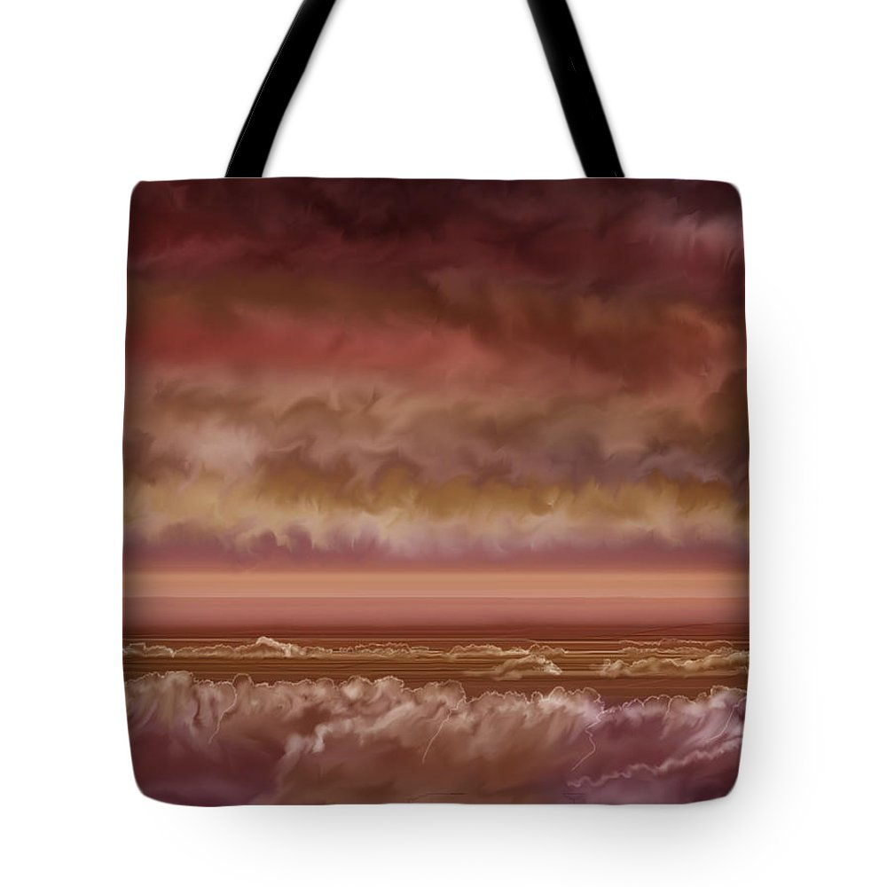 Sunset Tote Bag featuring the painting Red Sky At Night Sailor Delight by Anne Norskog