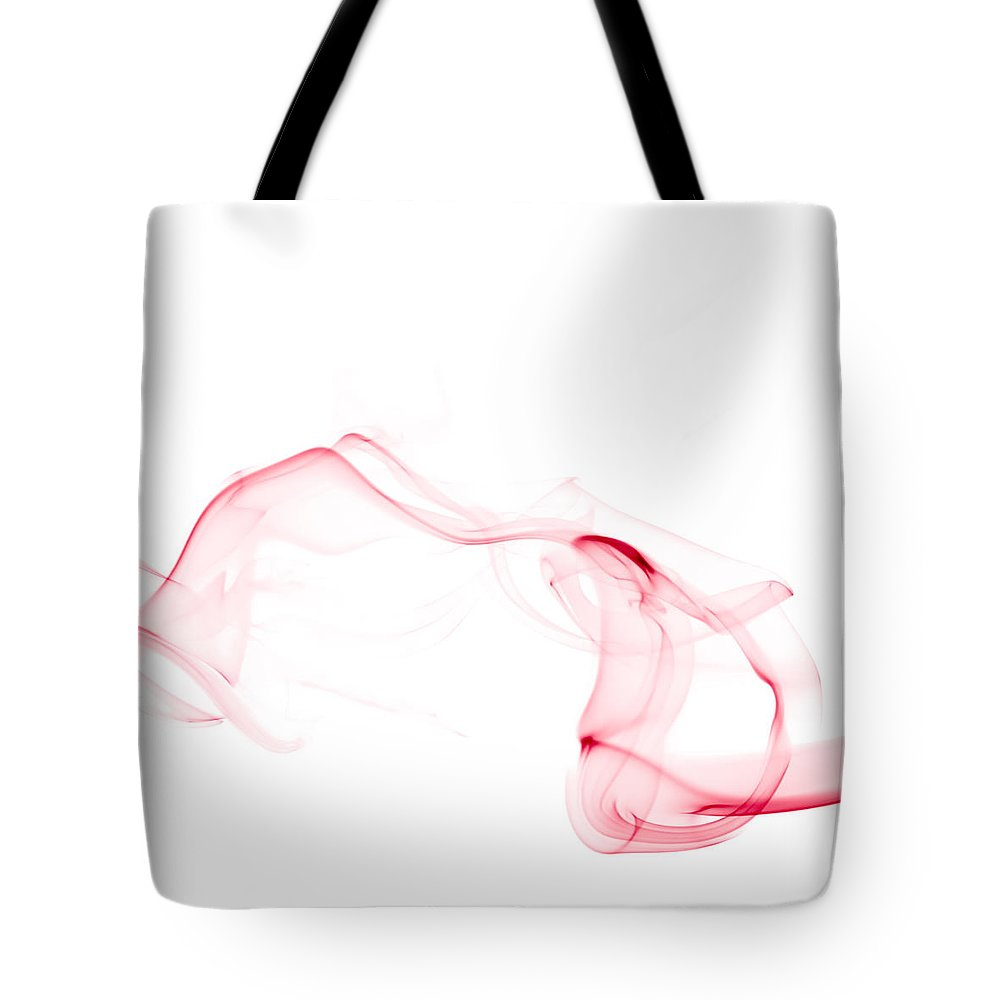 Scott Norris Photography Tote Bag featuring the photograph Red Smoke by Scott Norris