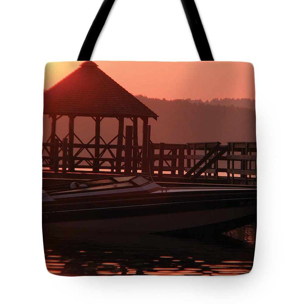 Landscape Tote Bag featuring the photograph Red Sun Rising by Michael Mooney