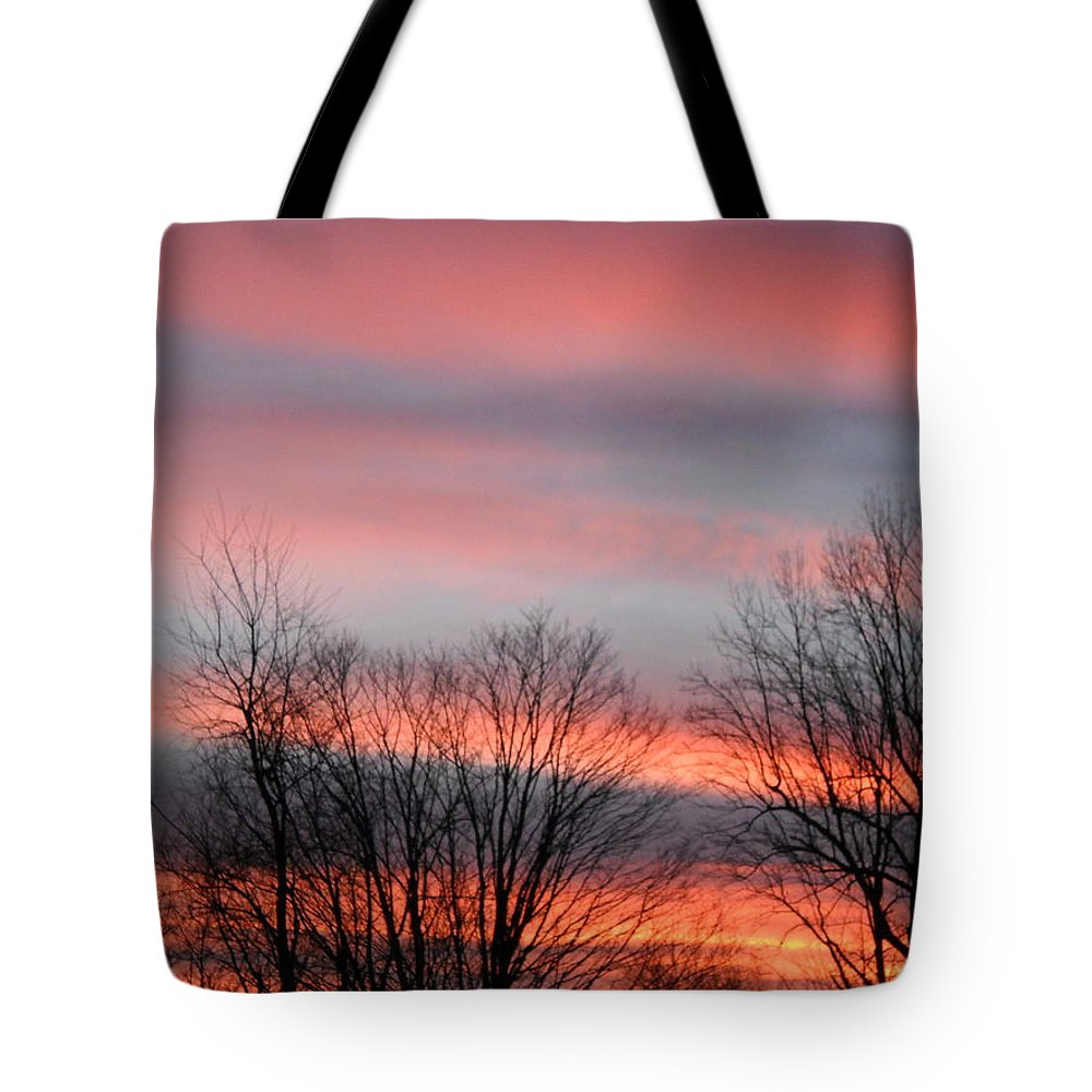 Nature Tote Bag featuring the photograph Red Sun Set by James Haney