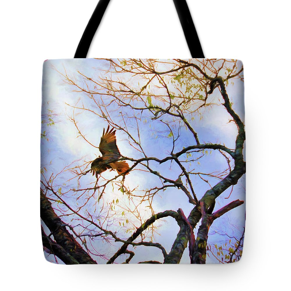 Nature Tote Bag featuring the photograph Red Tailed Hawk by Jan Amiss Photography