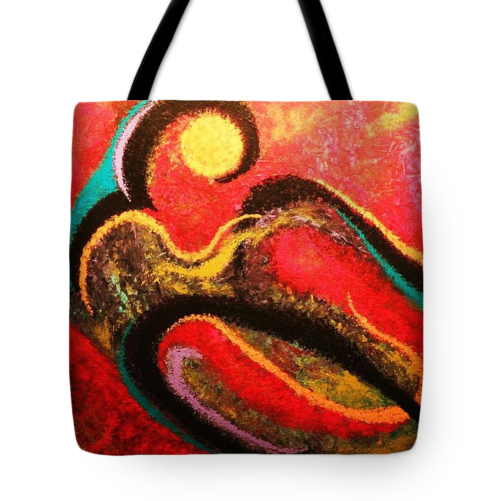 Red Tote Bag featuring the painting Red Tide by Todd Hoover