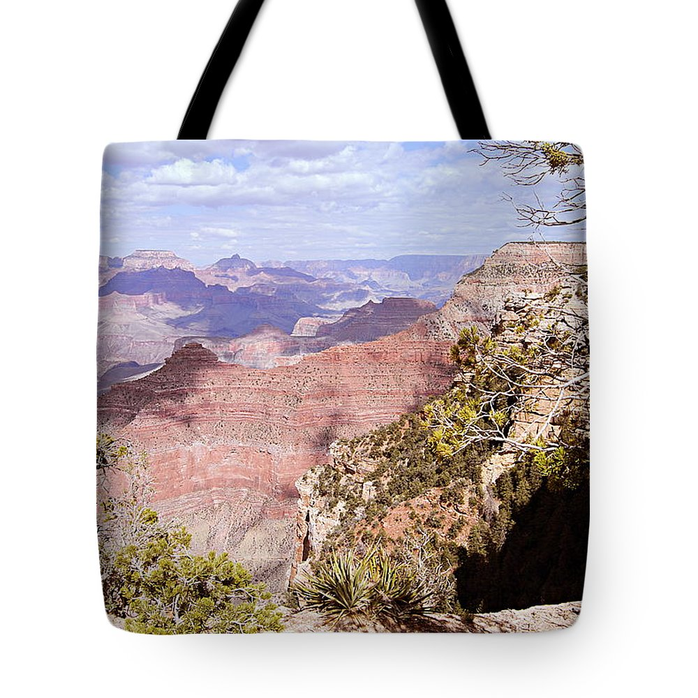 Grand Canyon National Park Tote Bag featuring the photograph Red Wall - Grand Canyon by Larry Ricker