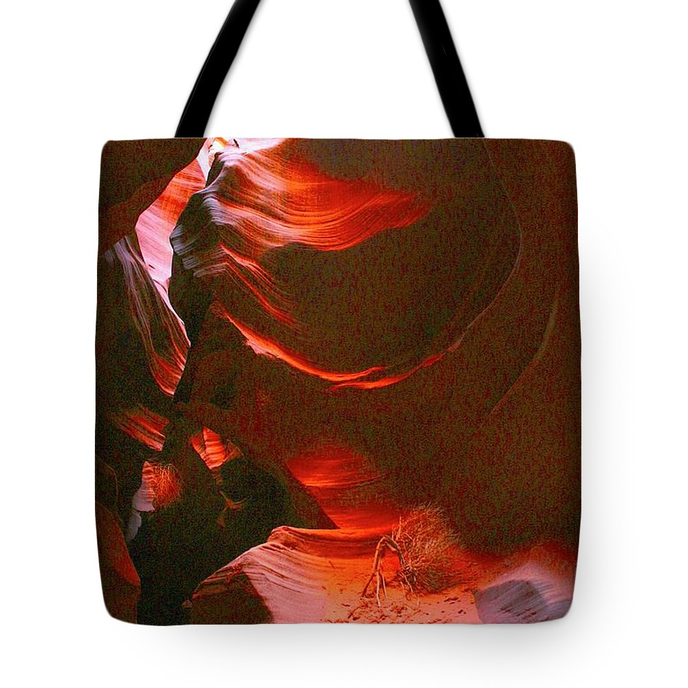 Slot Canyon Tote Bag featuring the photograph Red Wave by Cordelia Ford