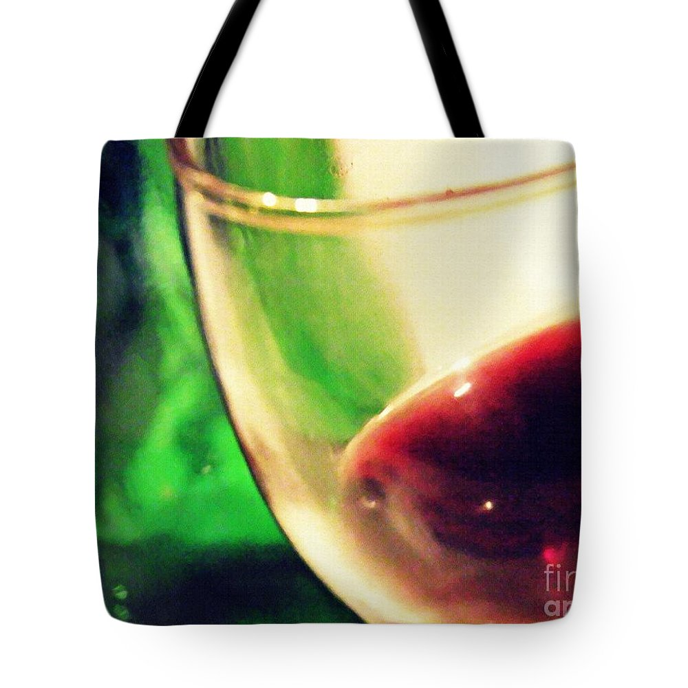 Wine Tote Bag featuring the photograph Red Wine by Sarah Loft