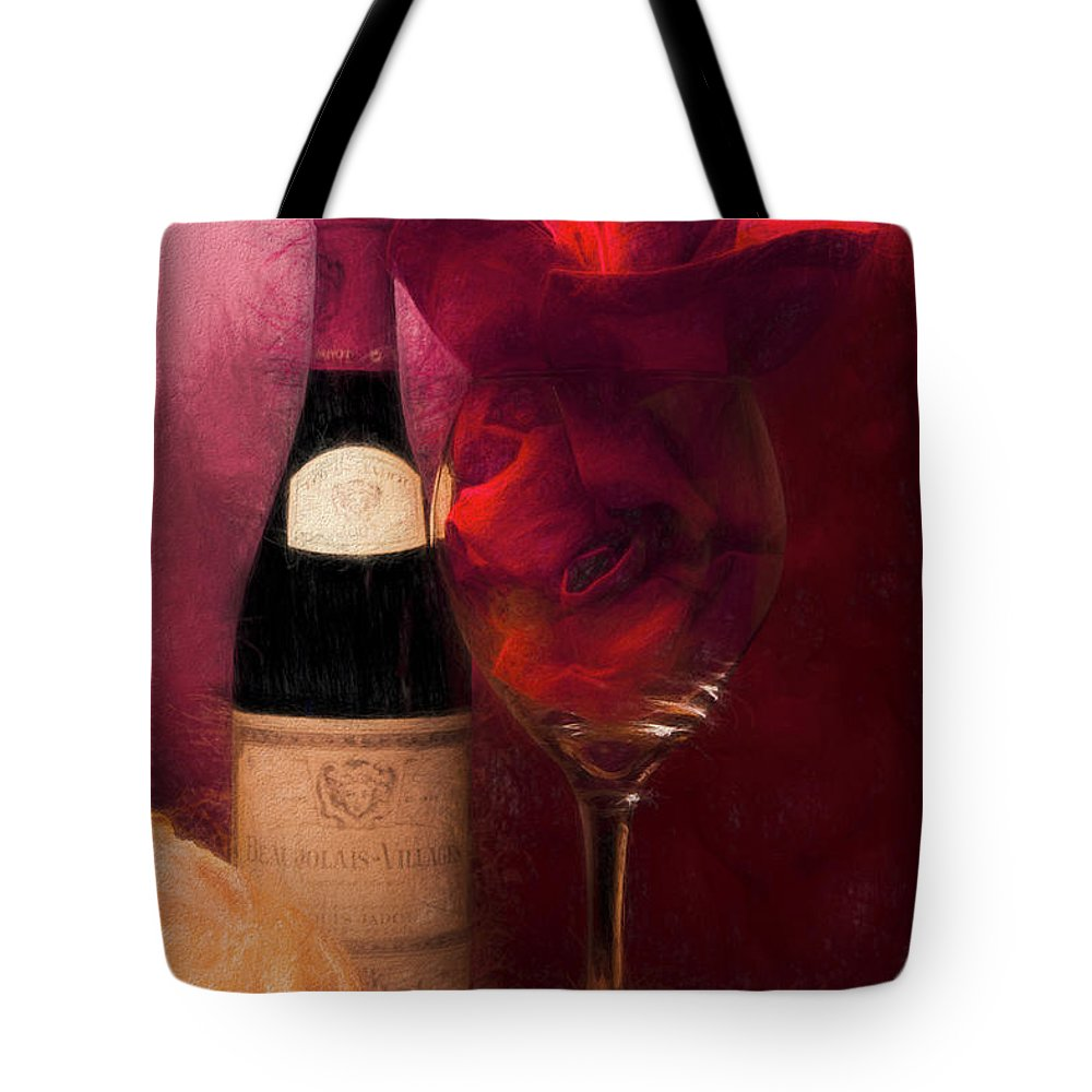 Alcohol Tote Bag featuring the photograph Red Wine by Tom Mc Nemar
