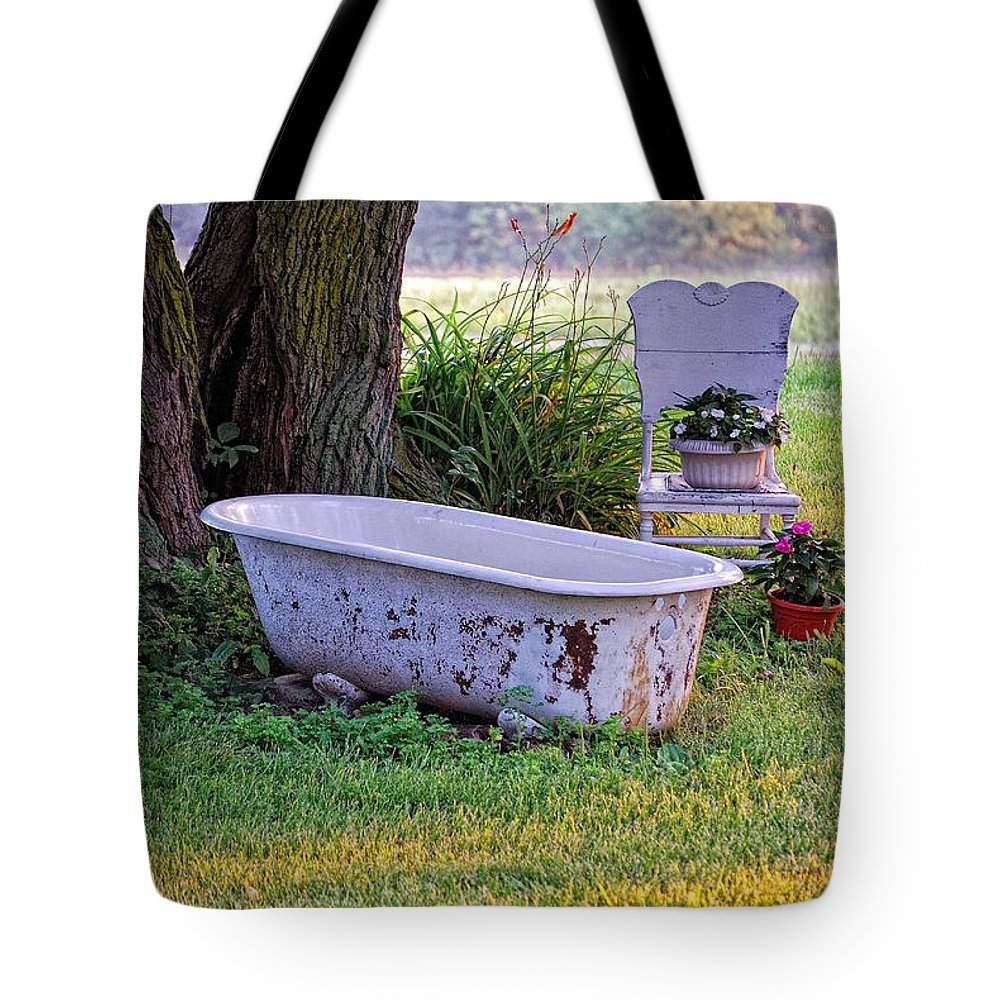 Landscape Tote Bag featuring the photograph Redneck Hot Tub by Pamela Baker