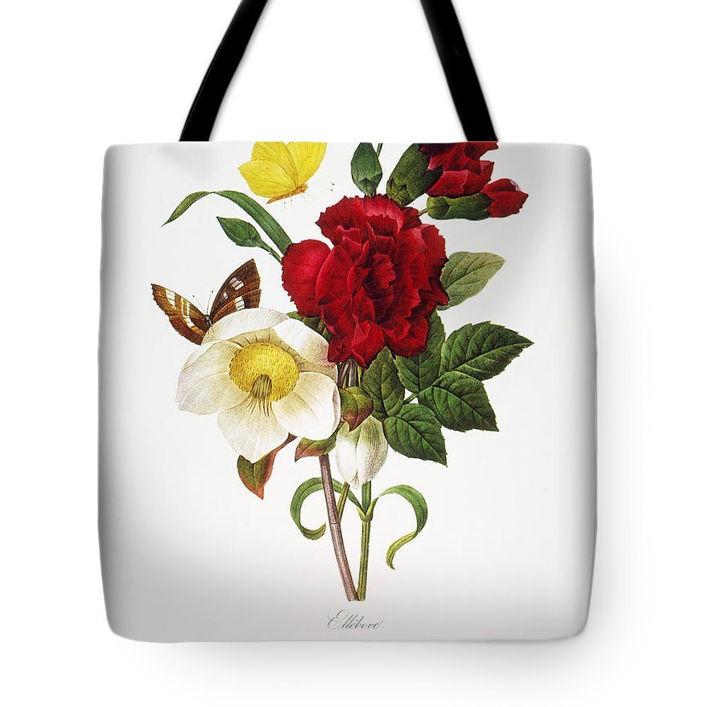 1833 Tote Bag featuring the photograph Redoute: Hellebore, 1833 by Granger