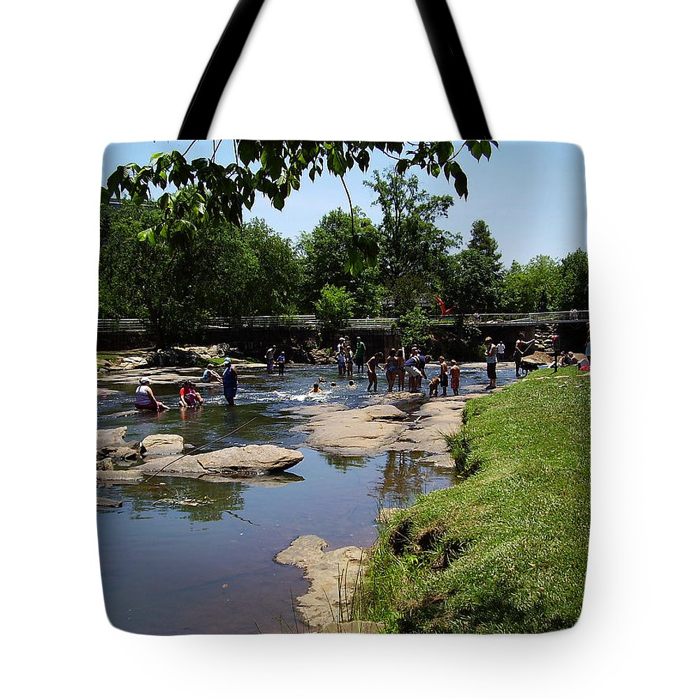 Reedy River Tote Bag featuring the photograph Reedy River by Flavia Westerwelle