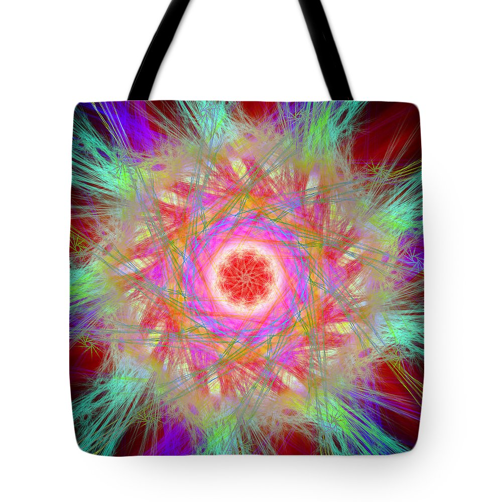 Abstract Tote Bag featuring the digital art Refficient by Andrew Kotlinski