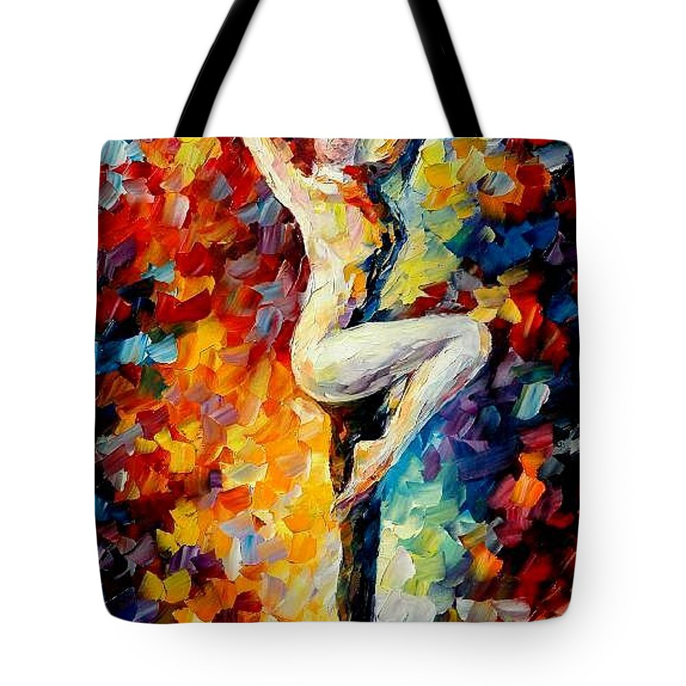 Painting Tote Bag featuring the painting Refinement by Leonid Afremov