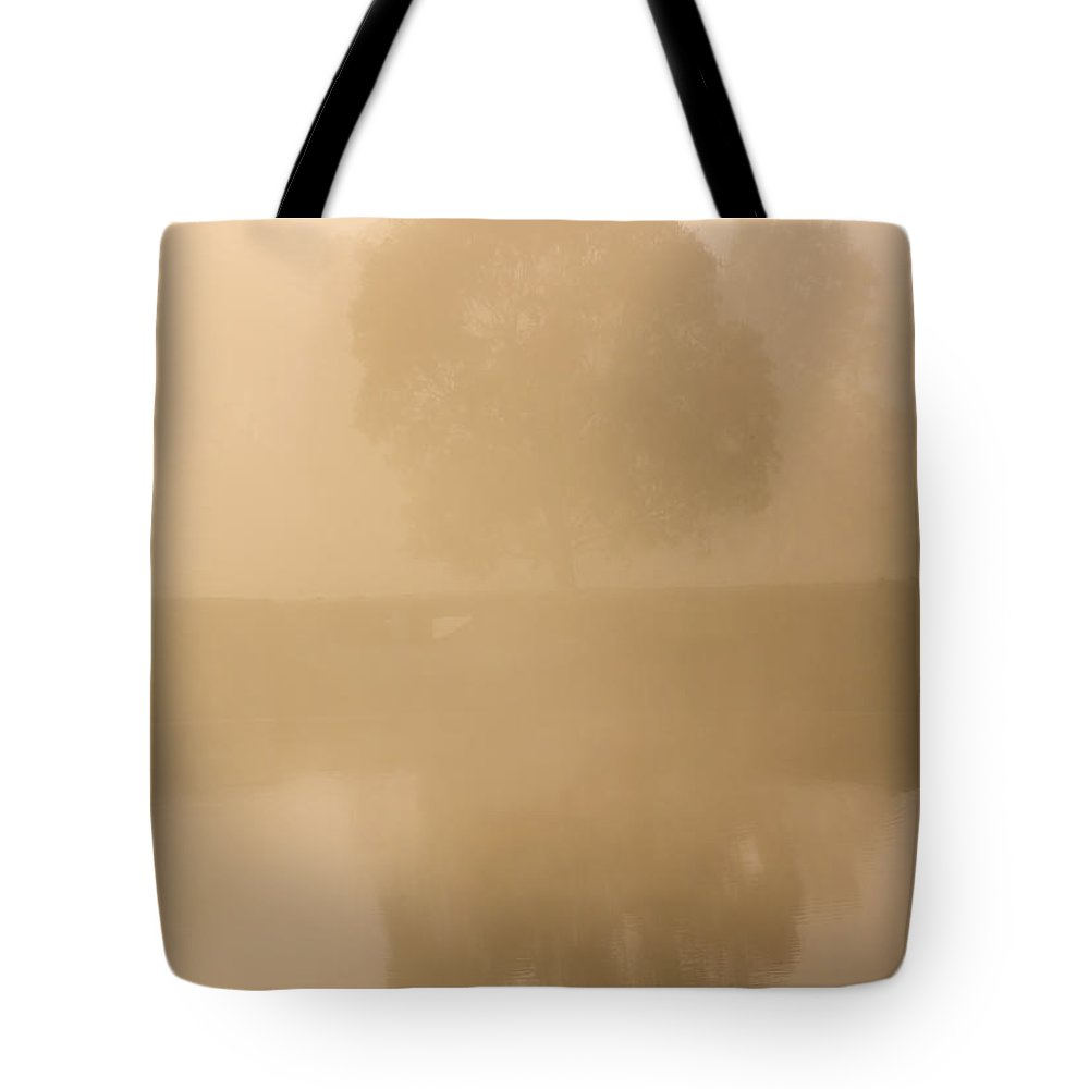 Reflection Tote Bag featuring the photograph Reflected Gum Sunrise by Mike Dawson
