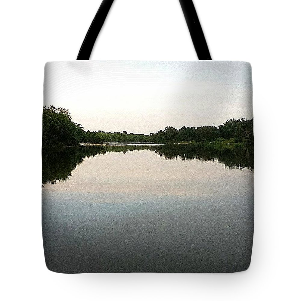 Lake Tote Bag featuring the photograph Reflected by Hayley Allard