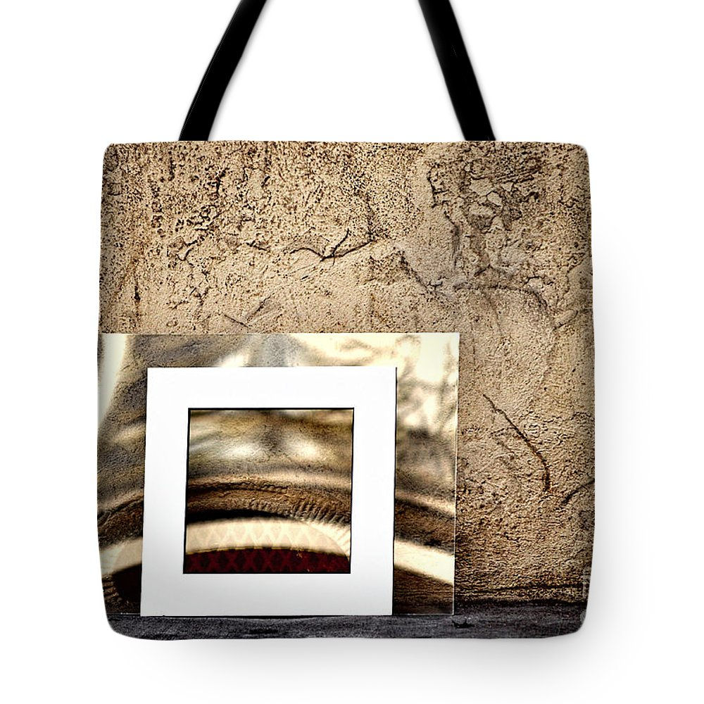 Reflection Tote Bag featuring the photograph Reflection Against The Wall by Frances Ann Hattier