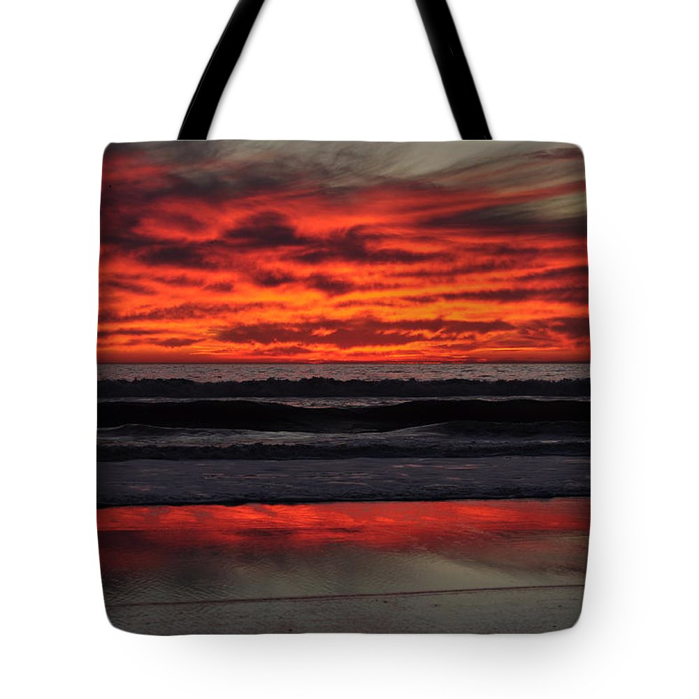 Sunset Tote Bag featuring the photograph Reflection by Bridgette Gomes