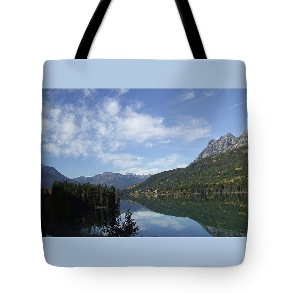 Reflection Tote Bag featuring the photograph Lake Reflection by Tiffany Vest