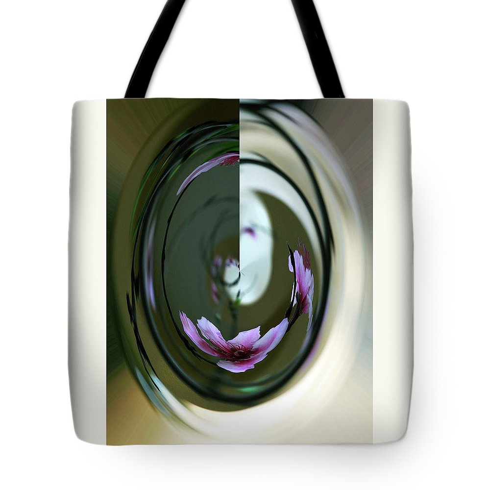 Inna Nedzelskaia Tote Bag featuring the digital art Reflection In A Drop by Inna Nedzelskaia