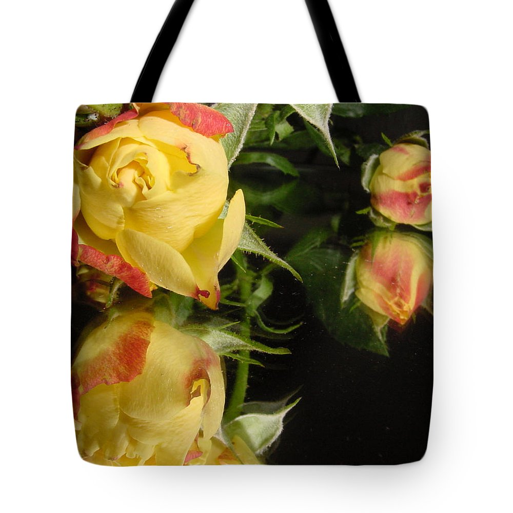 Rose Tote Bag featuring the photograph Reflection by Kathy Bucari