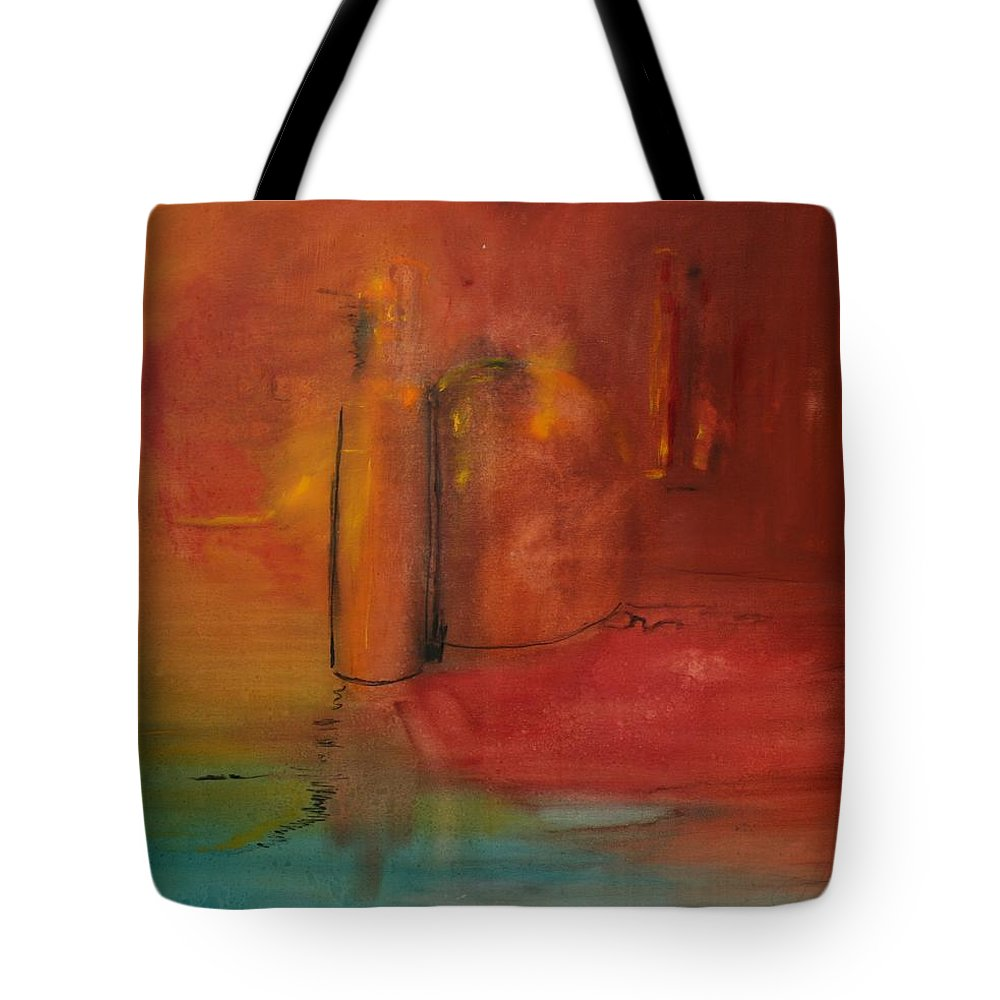 Still Tote Bag featuring the painting Reflection Of Still Life by Jack Diamond
