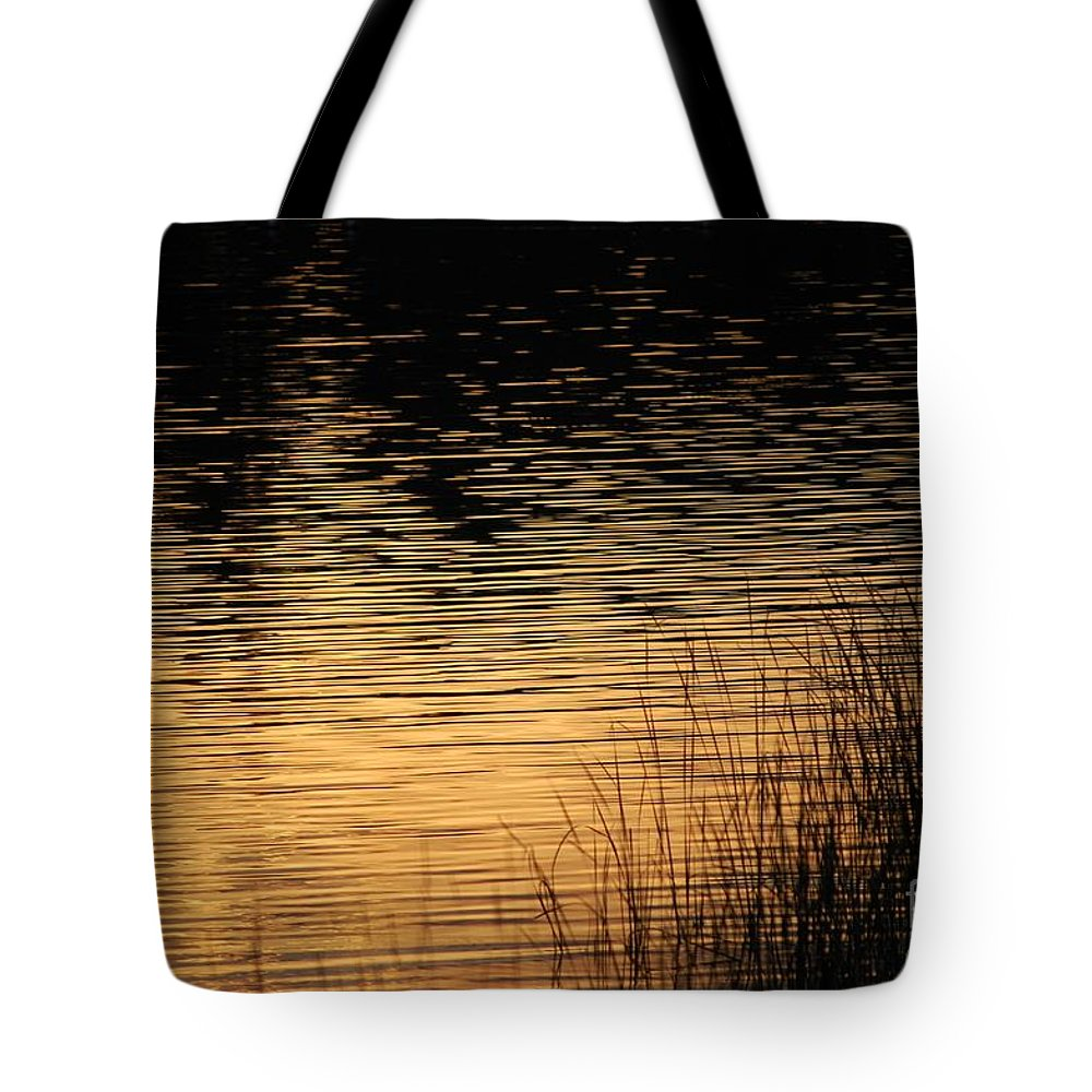 Digital Photo Tote Bag featuring the photograph Reflection On A Sunset by David Lane