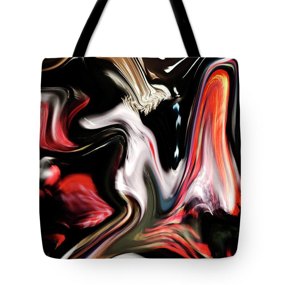 Modern Tote Bag featuring the digital art Reflection by Ralf Nau