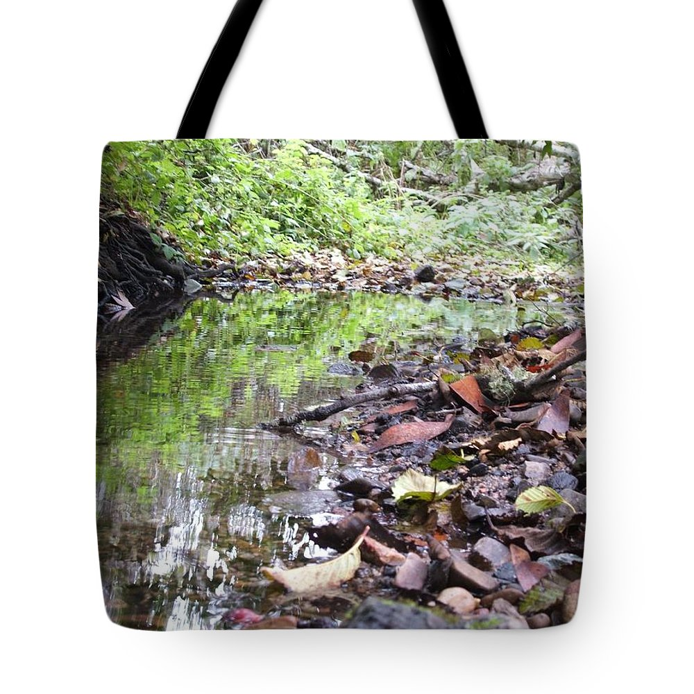 Woods Tote Bag featuring the photograph Reflection by Shari Chavira