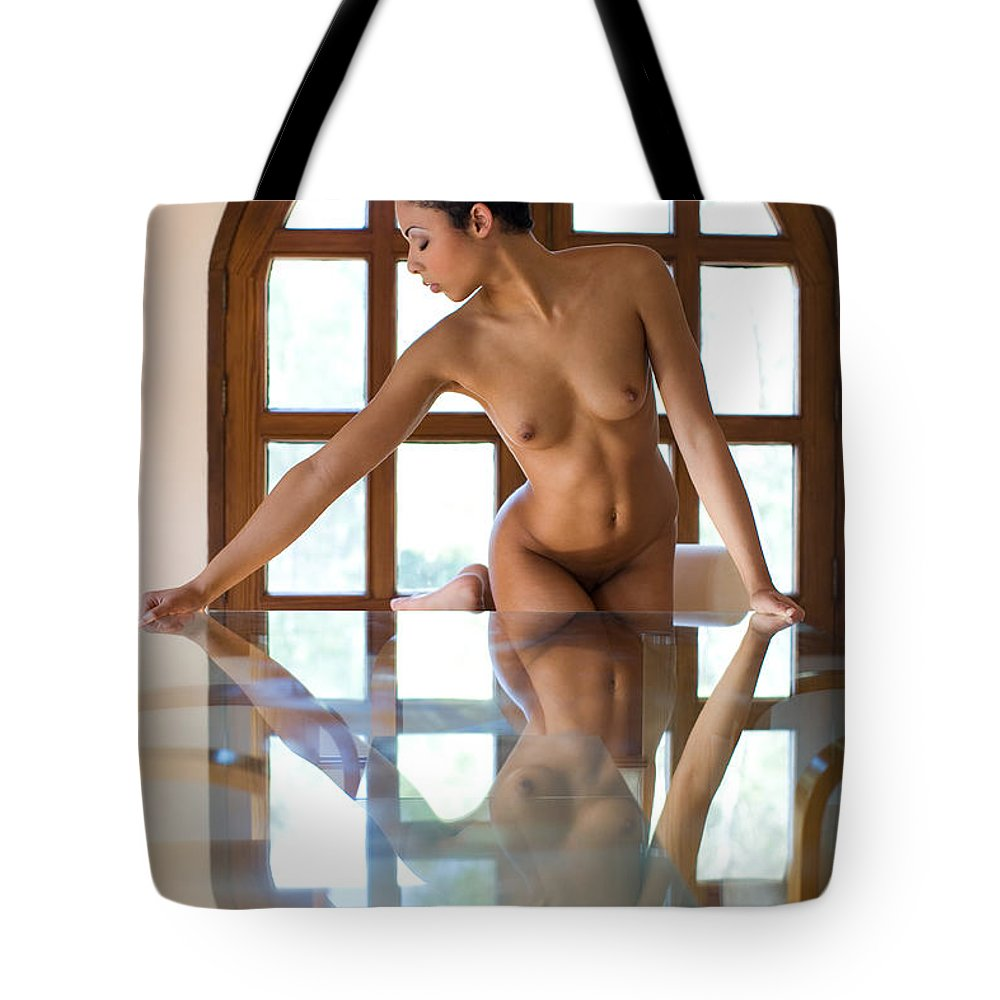 Sensual Tote Bag featuring the photograph Reflection Time Again by Olivier De Rycke