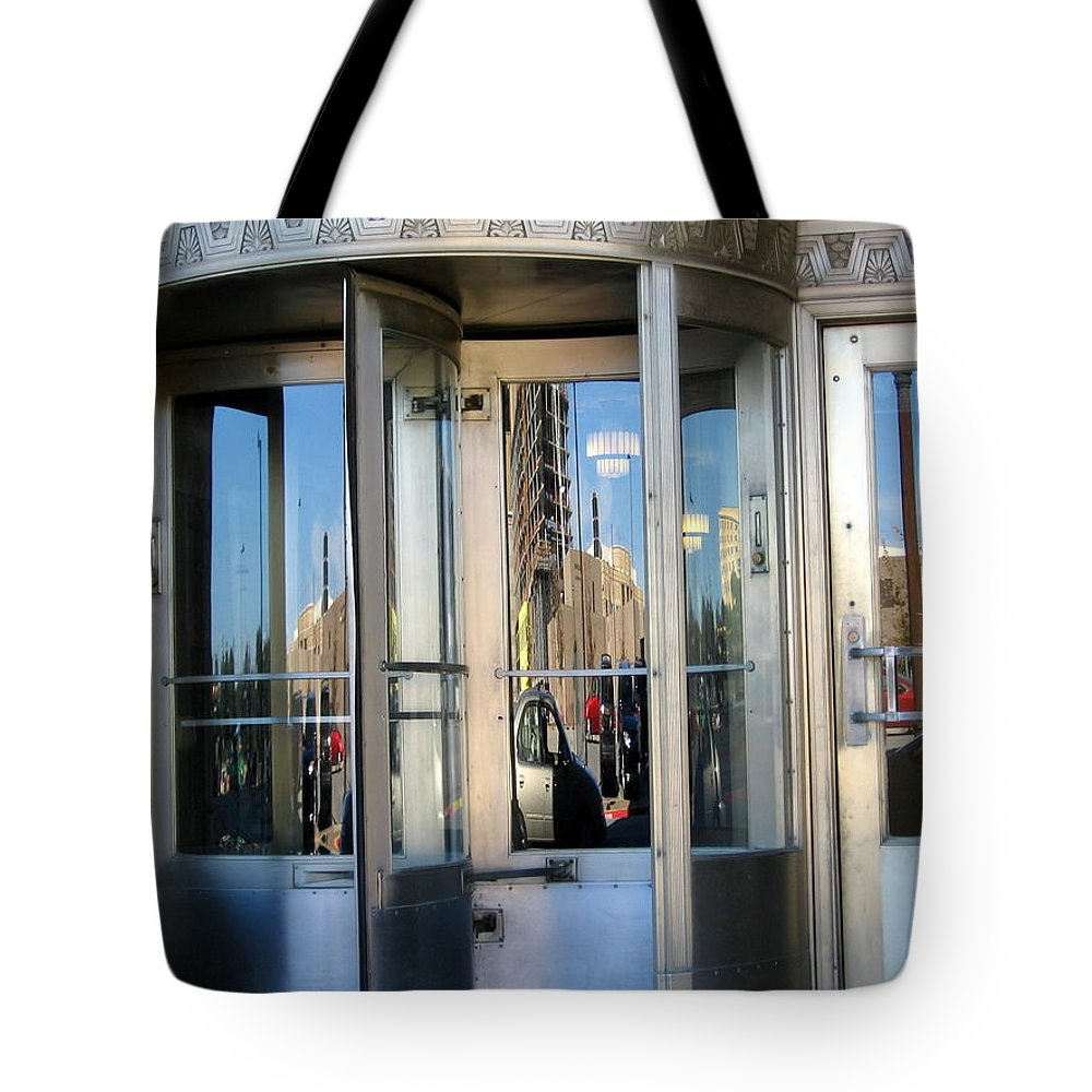 Ft Worth Texas Tote Bag featuring the photograph Reflections by Amy Hosp