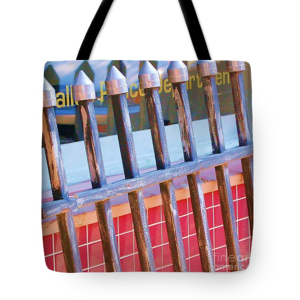 Gate Tote Bag featuring the photograph Reflections by Debbi Granruth