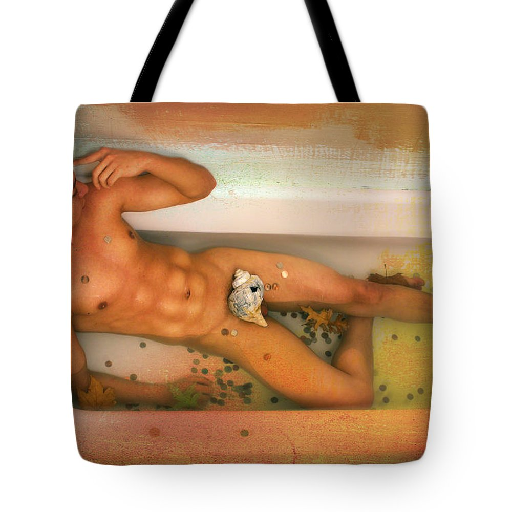 Artistic Nude Tote Bag featuring the photograph Reflections by Mark Ashkenazi