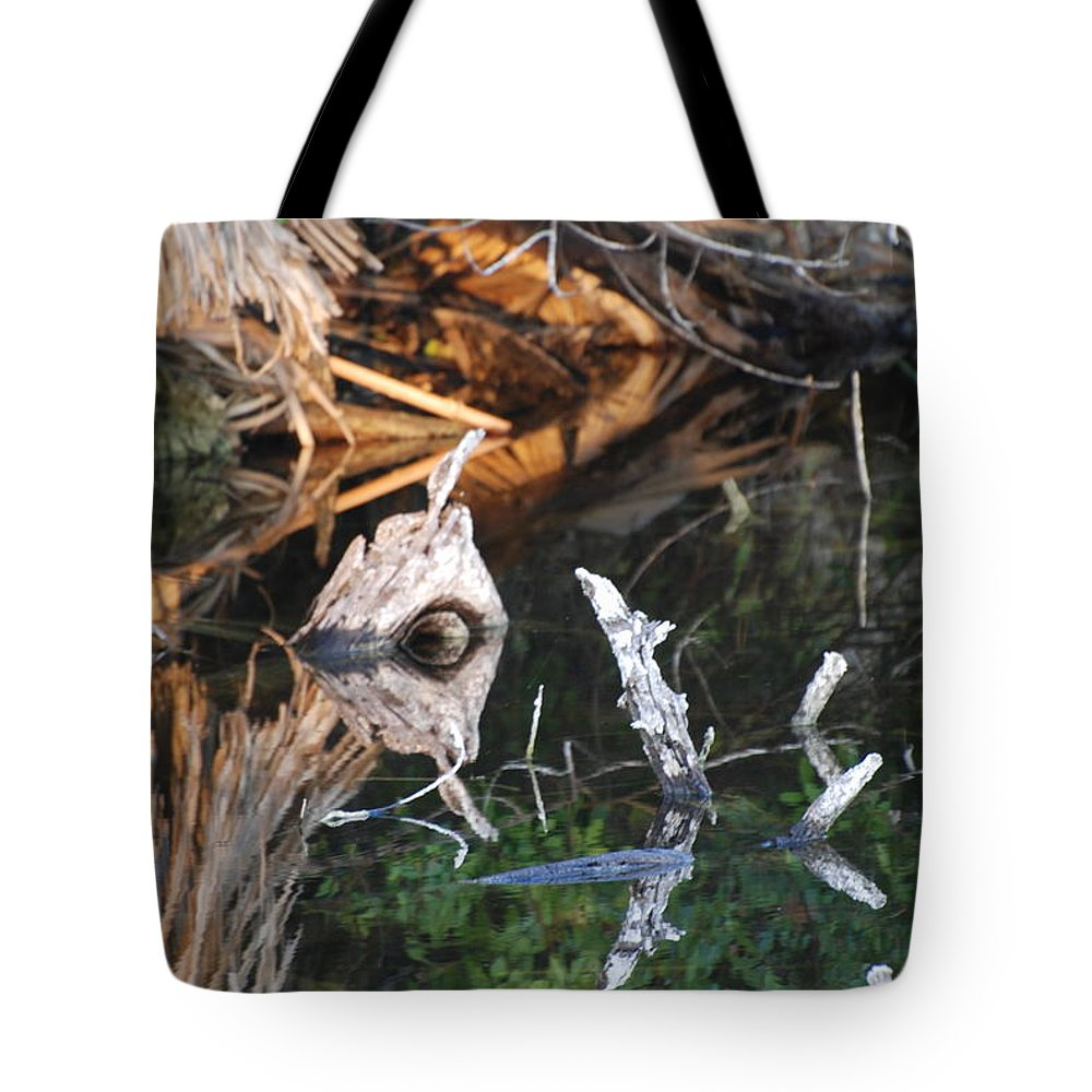 Sunset Tote Bag featuring the photograph Reflections Of A Cyclops by Rob Hans