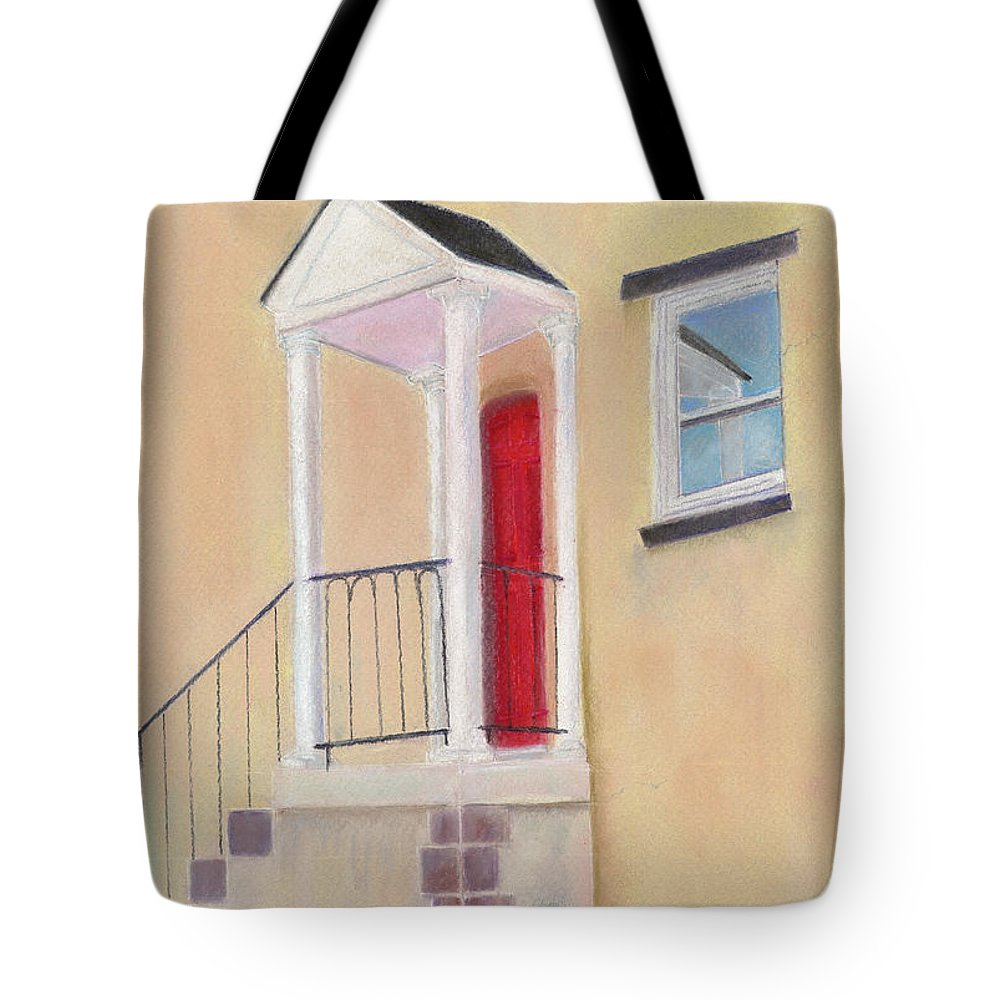 Red Door Tote Bag featuring the painting Red Door - Baltimore by Arlene Crafton
